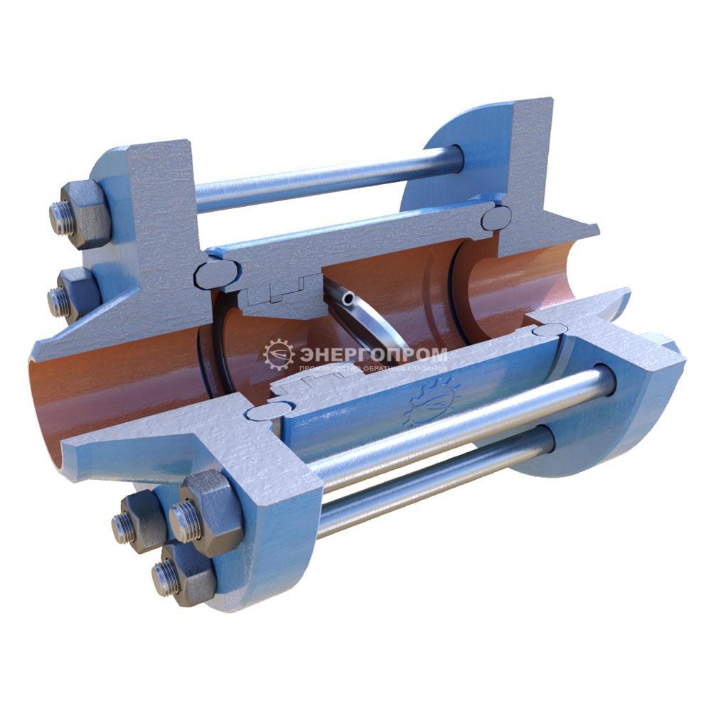 Затвор обратный поворотный стальной межфланцевый высокого давления 19с11нж Ду25-400 Ру10-250