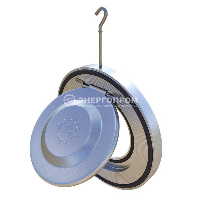 Клапан обратный 19с80р Ду50-600 однодисковый межланцевый стальной, стяжной между фланцами